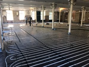 Underfloor heating system in building